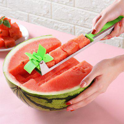 NEW Watermelon Cutter Multi Melon Slicer Cutting Machine Stainless Steel Windmill Fruit Household Artifact Kitchen Tool