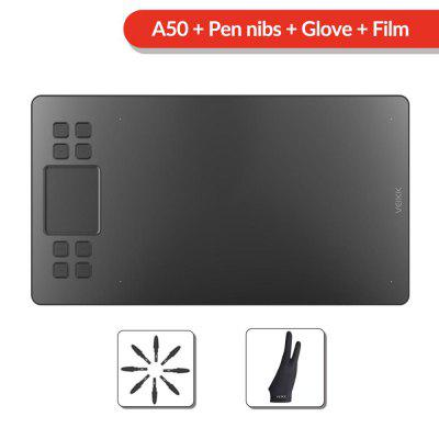 VEIKK A50 Graphics Drawing Tablet with 8192 Pressure Sensitivity Battery-Free Passive Pen Digital Computer Peripherals