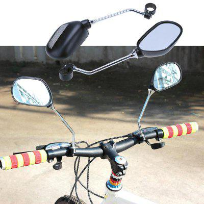 A Pair Rear View Mirror for Bike Bicycle Glass Left/Right Safety Wide Range Back Sight Reflector Angle Adjustable Mirrors
