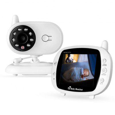 3.5 inch Video Baby Monitor 2.4GHz Wireless Security Camera IR Night Vision Babyphone Two Way Audio Temperature