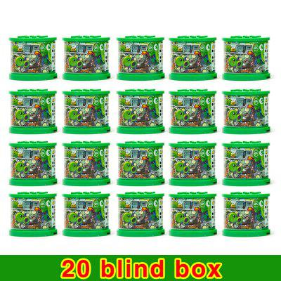 Blind box lotter Plants vs Zombies Figures Building Blocks PVZ Action Dolls Game Brick Toys For Children Collection