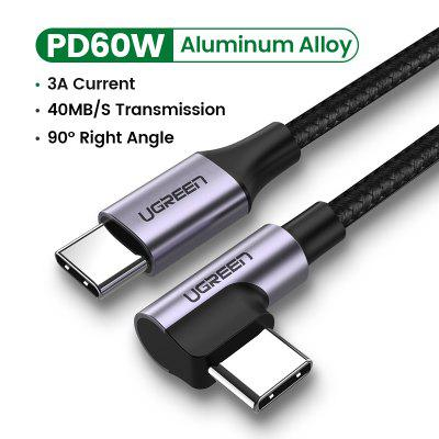 Ugreen USB C to USB Type C for Samsung S20 PD 60W Cable for MacBook Pro iPad Pro2020 Quick Charge 4.0 USB-C Fast USB Charge Cord