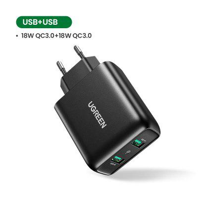 Ugreen USB Charger Quick Charge 3.0 36W Fast Charger Adapter QC3.0 Mobile Phone Chargers for iPhone Samsung Xiaomi Redmi Charger mobile phone chargers nobby 0101nb 007 001 quick fast accessories telecommunications usb for car