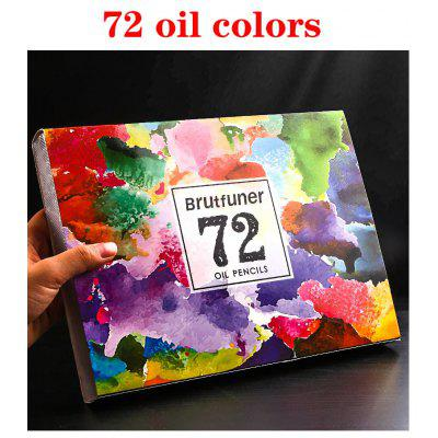 48/72/120/160/180Color Professional Oil Color Pencils Wood Soft Watercolor Pencil For School Draw Sketch Art Supplies
