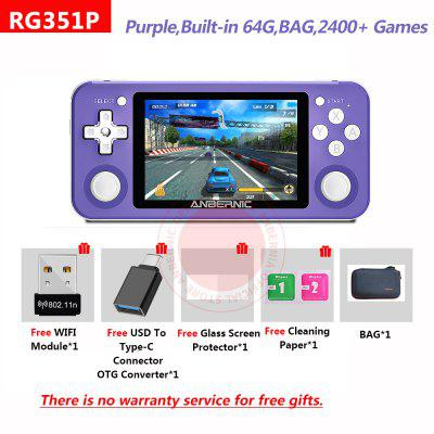 RG351P ANBERNIC  Retro Game PS1 RK3326 64G Open Source System 3.5 inch IPS Screen Portable Handheld Console RG351gift 2400