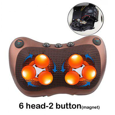 Relaxation Massage Pillow Vibrator Electric Shoulder Back Heating Kneading Infrared Therapy Shiatsu Neck Massager