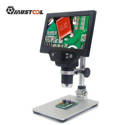 1200X Digital Microscope Electronic Video 7inch LCD 12MP Solder Phone Repair Magnifier Built-in Battery