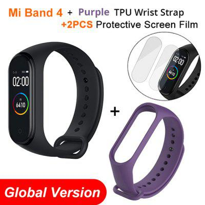 Mi Band 4 Bracelet Heart Rate Fitness Tracker Bluetooth5.0  Sport Waterproof 3 Color AMOLED Screen Smart Band