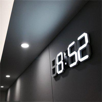3D LED Wall Clock Modern Design Digital Table Alarm Nightlight Watch For Home Living Room Decoration