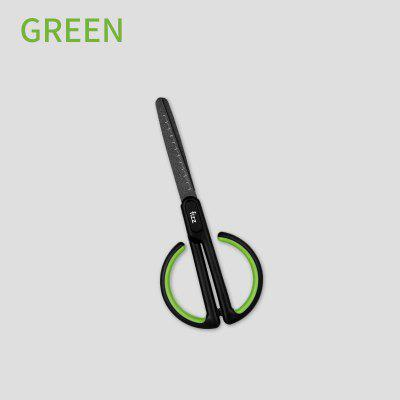 Anti-stick Scissors with Scale for Office School Student Stationary Scissor Household DIY Tape Shear Snip