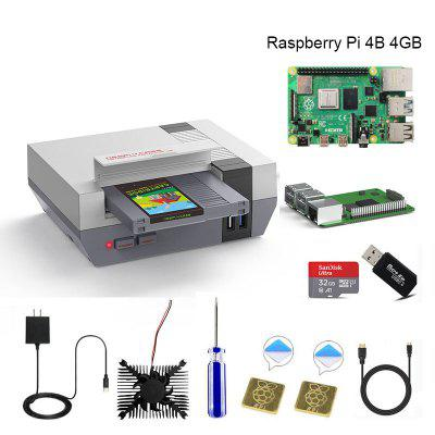 RETROFLAG NESPi 4 CASE Raspberry Pi 4 Case with SSD CASE Cooling Fan HDMI Adaptor & Heatsinks for Raspberry Pi 4 Model B 4 pin extension power splitter cable for pc dc cooling cpu fan black yellow green blue