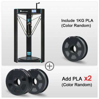 3D Printer Delta Predator Large Build Size With Anycubic Auto Leveling Ultrabase Heatbed DIY Kit Printing Fexible Filmanet
