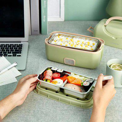 Portable Cooking Electric Lunch Box Multifunctional Plug-in Heating Large Capacity Double Layer