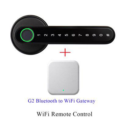 APP Smart WiFi Remote Control Fingerprint Lock Biometrics Password Code Door with Mechanical Key
