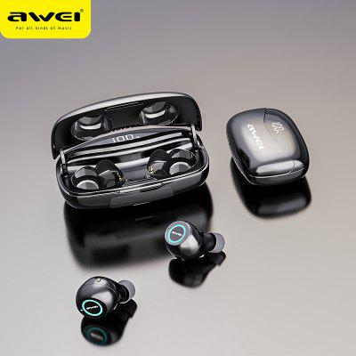 Фото - AWEI T19 TWS 5.0 2500mAh LED Display Super Bass Stereo Earbuds Noise Cancelling Waterproof IPX5 With Dual Mic For Gaming Sport awei a885bl gold 09210