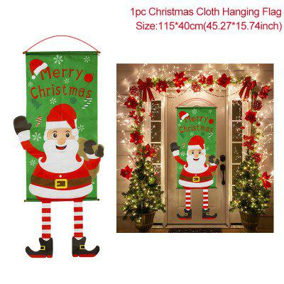 Merry Christmas Porch Door Banner Hanging Ornament Decoration For Home Xmas Navidad 2020 Happy New Year 2021