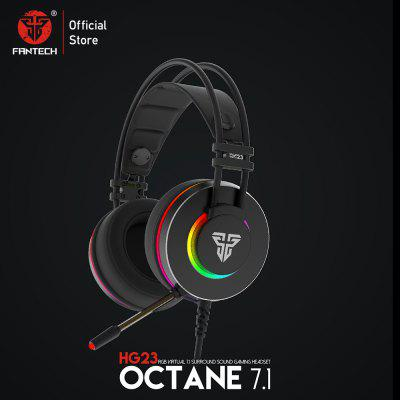 FANTECH HG23 Headphone Personalize With Octane 7.1 RGB USB Just Wired Gaming Headset Alloy Earmuffs For PC PS4 Headphones