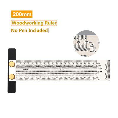Фото - High-Precision Scale Ruler Stainless Woodworking Scribing T-Type Hole Mark Line Gauge Carpenter Measuring Tools professional 11pcs set mermaid makeup brushs makeup brush set good quality make up brushes for beginner tools kit beauty tools