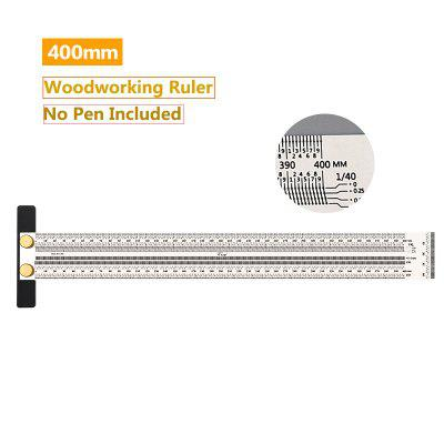 High-Precision Scale Ruler Stainless Woodworking Scribing T-Type Hole Mark Line Gauge Carpenter Measuring Tools