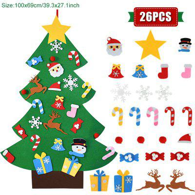 Kids DIY Felt Christmas Tree Decoration for Home Navidad 2021 New Year Gifts Ornaments Santa Claus Xmas