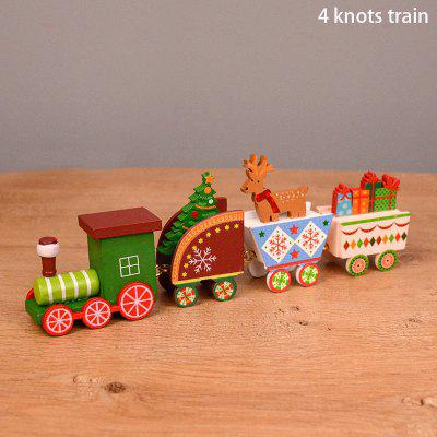 Wooden Christmas Train Ornament Decoration For Home Santa Claus Gift Toys Crafts Table Deco Navidad Xmas 2021 New Year