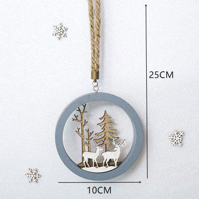 2021 New Year Natural Xmas Elk Wood Craft Christmas Tree Ornament Noel Decoration for Home Wooden Pendant Navidad Gift