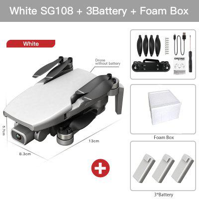 2020 New SG108 Drone 4k HD FPV Drone 5G WiFi GPS Dron Brushles Motor Flight For 25 Min RC Distance 1km RC Quadcopter VS Ex5 Dron 2020 new f3 gps drone 4k 5g wifi foldable 4k 1080p hd camera quadcopter follow me fpv 25mins altitude hold durable rc drone dron