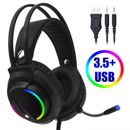 USB Gaming Headset with Microphone for PC