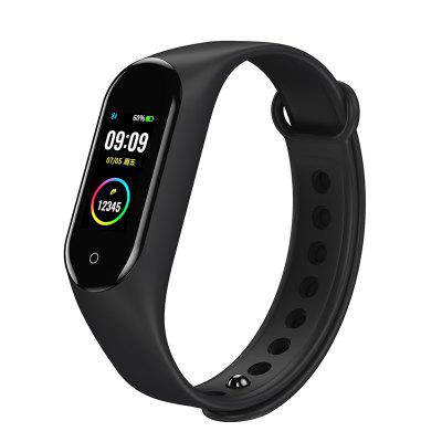 Bakeey M4V USB Charging Custom Dials Full Touch Screen Heart Rate Blood Pressure O2 Monitor Weather Push bluetooth Smart Band