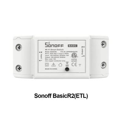Itead Sonoff Basic R2 Wifi DIY Smart Wireless Remote Switch Domotica Light Controller Module Compatible with Alexa Google Home eWeLink