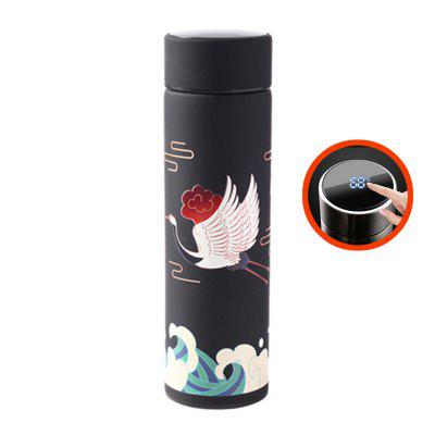Smart Water Bottle Stainless Steel Vacuum Flask Lcd Screen Temperature Display Intelligent Thermos