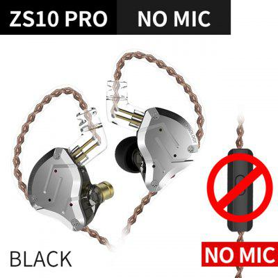 KZ ZS10 PRO 4BA+1DD HIFI Metal Headset Hybrid In-ear Earphone Sport Noise Cancelling Headset KZ ZSN PRO ZST AS16 AS12 AS10 C16