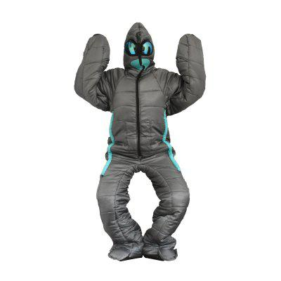 Alien Walking Sleeping Bag Human Body Mummy Outdoor or Indoor Camping Hospital Escort Keep Warm Cottom