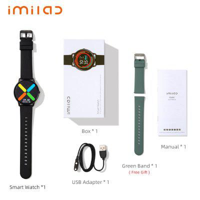 Imilab Smart Watch Fitness Tracker Heart Rate Monitor 340mAh Waterproof Screen Sleep Monitor Bluetooth Call Reminder Watches