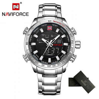 NAVIFORCE Top Brand Mens Gold Quartz Watch Clock Men Army Military Sports Watches Man Full Steel Waterproof relogio masculino