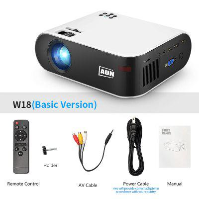Фото - AUN MINI Projector W18 2800 Lumens Optional Android 6.0 wifi W18D support Full HD 1080P LED Projector 3D Home Theater modern led pendant lights for kitchen living dinging room fixtures luminaire led hanging lamp restaurant home indoor lighting