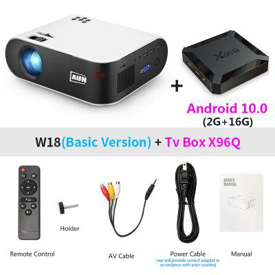 Фото - AUN MINI Projector W18 2800 Lumens Optional Android 6.0 wifi W18D support Full HD 1080P LED Projector 3D Home Theater original remote control for pioneer home theater amplifier axd7739