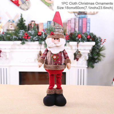 QIFU Telescopic Christmas Doll Merry Decor for Home 2020 Navidad Noel Ornaments Xmas Gifts New Year 2021