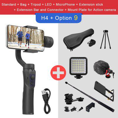 EKEN H4 3 Axis Handheld Stabilizer Cellphone Video Record Smartphone Gimbal For Action Camera phone orsda app h4 3 axis gimbal stabilizer gopro camera stabilizer shandheld selfie stick tripod for smartphone connection bluetooth