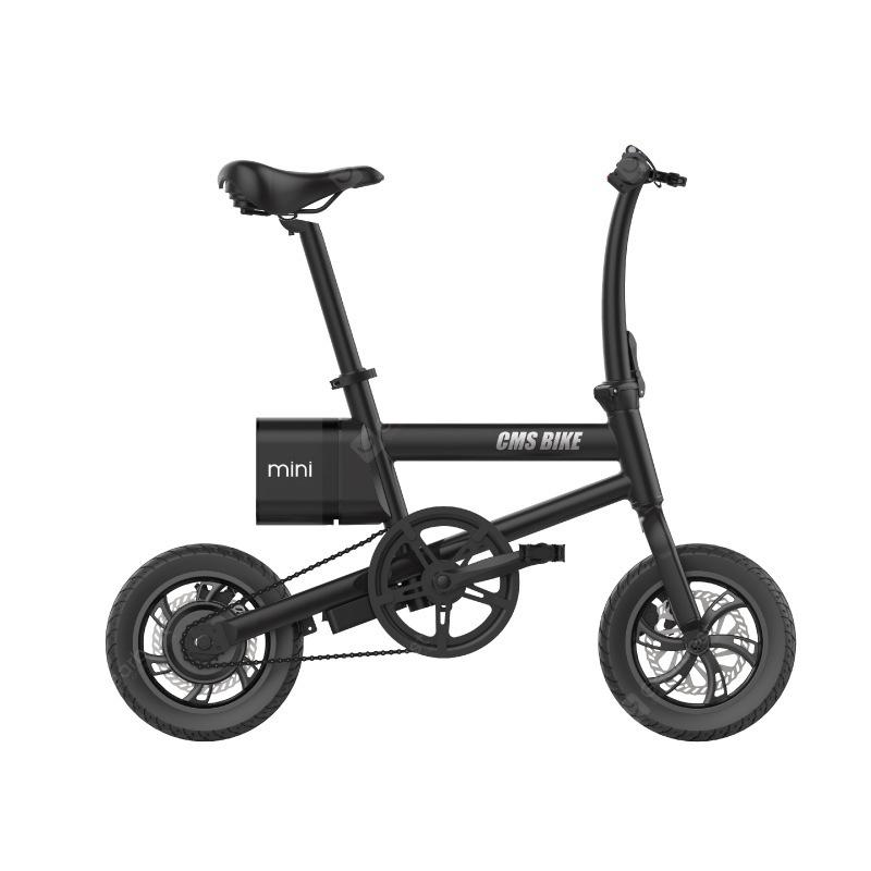 """CMSBIKE Smart Folding Electric Bike 250W 36V 12 Inch Stable Tires 25km/h Max Speed Foldable Electric Bicycle With LED Power"" 3"