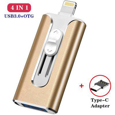 Фото - multi-function 4 in 1 USB Flash Drive 32GB OTG micro USB Pendrive 64GB 128GB type c Pen Drive for iphone/ipad/pc/Android phone kingsons 15 6 inches laptop backpack waterproof men women mochila quality student multi function anti theft packsacks