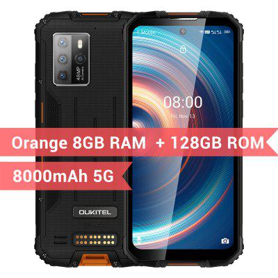 OUKITEL WP10 5G Rugged SmartPhone Global Version 8GB+128GB 8000mAh Mobile Phone 6.67inch FHD+ MeditaTek 48MP Quad Camera