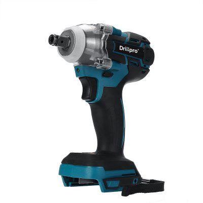 Drillpro Brushless Cordless Electric Impact Wrench 1/2 inch Socket Power Tools Rechargeable For Makita 18V Battery