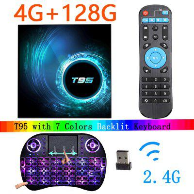 2020 Latest T95 Smart Tv Box Android 10 6k 2.4g & 5g Wifi Bluetooth 5.0 4g 16g 32gb 64gb 4k Quad Core Set-Top Media Player