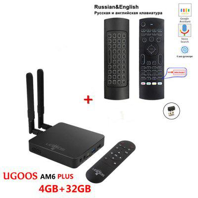 rk3328 h96 max android 8 1 tv box 4gb ram 64gb rom usb 3 0 2 4g 5g wifi 100m lan media player support 4k hd 3d movie UGOOS AM6 Plus Amlogic Smart Android 9.0 TV Box DDR4 4GB RAM 32GB ROM 2.4G 5G WiFi 1000M LAN Bluetooth 4K HD Media Player