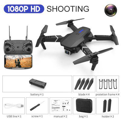 E88 RC Drone With Wide Angle HD 4K 1080P Wifi Fpv Dual Camera Height Hold Foldable Quadcopter Dron Kid Gift Toy fema sg107 wifi fpv with 4k wide angle camera mini drone foldable rc quadcopter auto follow hight altitude hold dron toys vs e58