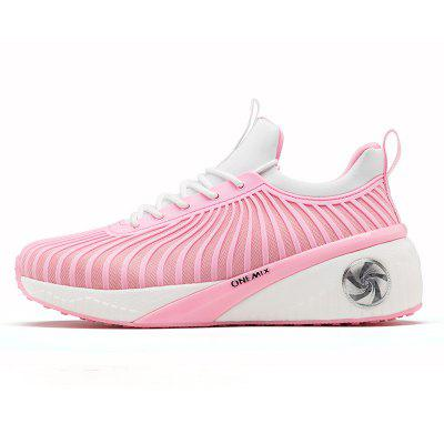 Onemix Women Running Shoes High Increasing Walking For Pink Sport Sneakers Rubber Outsoles Lady Size 35-40
