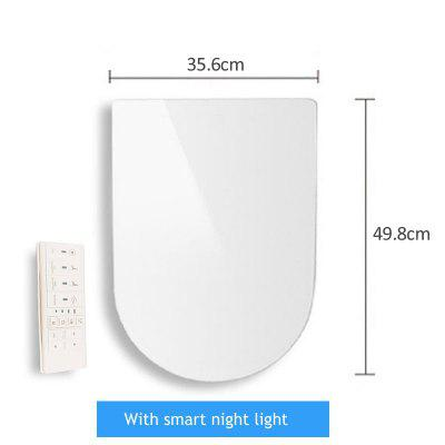 Ecofresh U O V shape Intelligent Toilet Seat Electric Bidet Cover Smart Heated seat Led Light Wc smart toilet