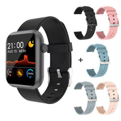 original microwear l2 waterproof smartwatch with steel band heart rate sleep monitor step counting function smartwatch COLMI P9 Smart Watch Men Woman Full Smartwatch Built-in game IP67 waterproof Heart Rate Sleep Monitor For iOS Android phone