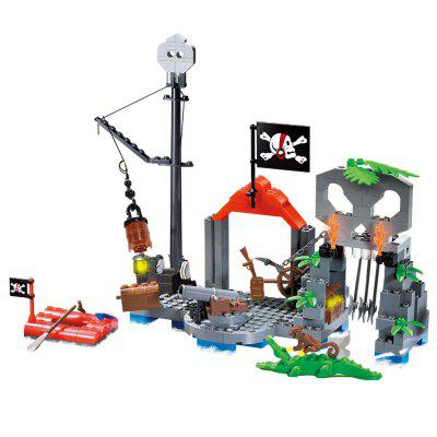 870+pcs Big Black Pearl Building Blocks Compatible with  Pirates Ship Enlighten Educational Kids Toys